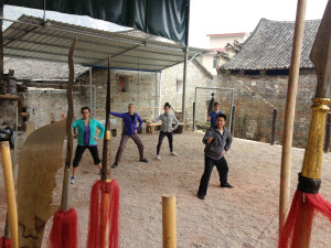 Qigong Lesson at Yangshuo Tai Chi school